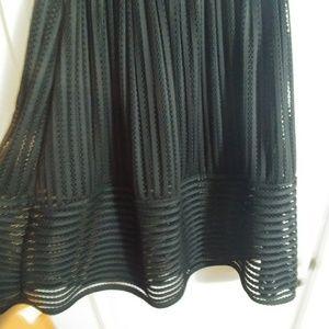 Skirt-Black High Waist skirt